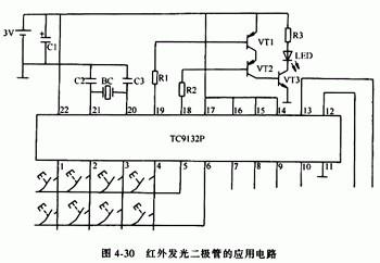红外发光二极管应用电路图