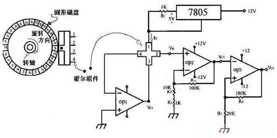 霍尔转速传感器应用电路