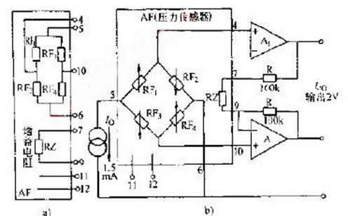力传感器经典电路图