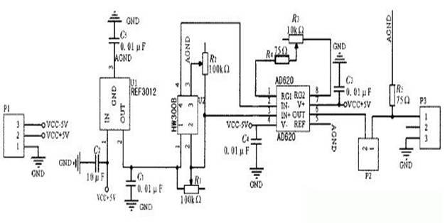 霍尔电流传感器电路图