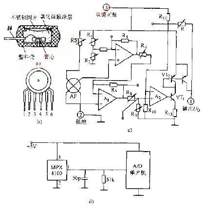 绝对压力传感器应用经典电路图