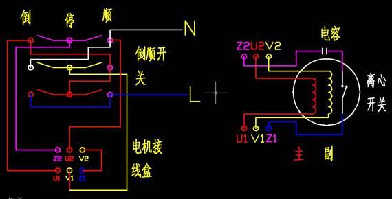 详解单相异步电动机原理及正反转接线图