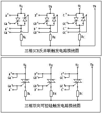 三相可控硅触发电路图