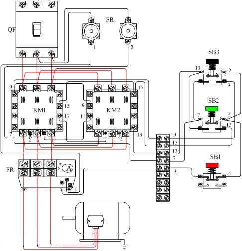 可以吧接触器互锁正反转控制电路中接触器km1,km2的动