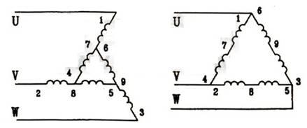 延边三角形降压启动原理图