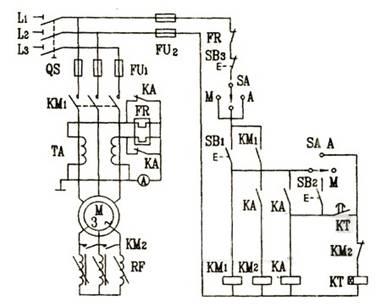 绕线式异步电动机转子回路接频敏变阻器启动控制电路图图片
