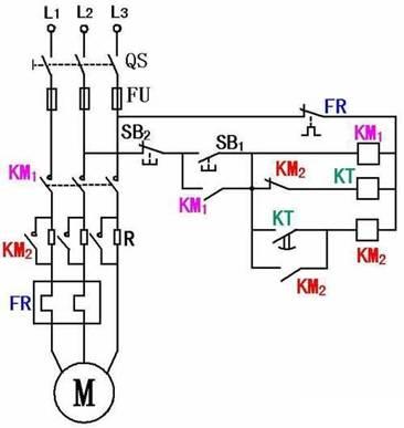 电动机串电阻降压起动工作原理图.jpg